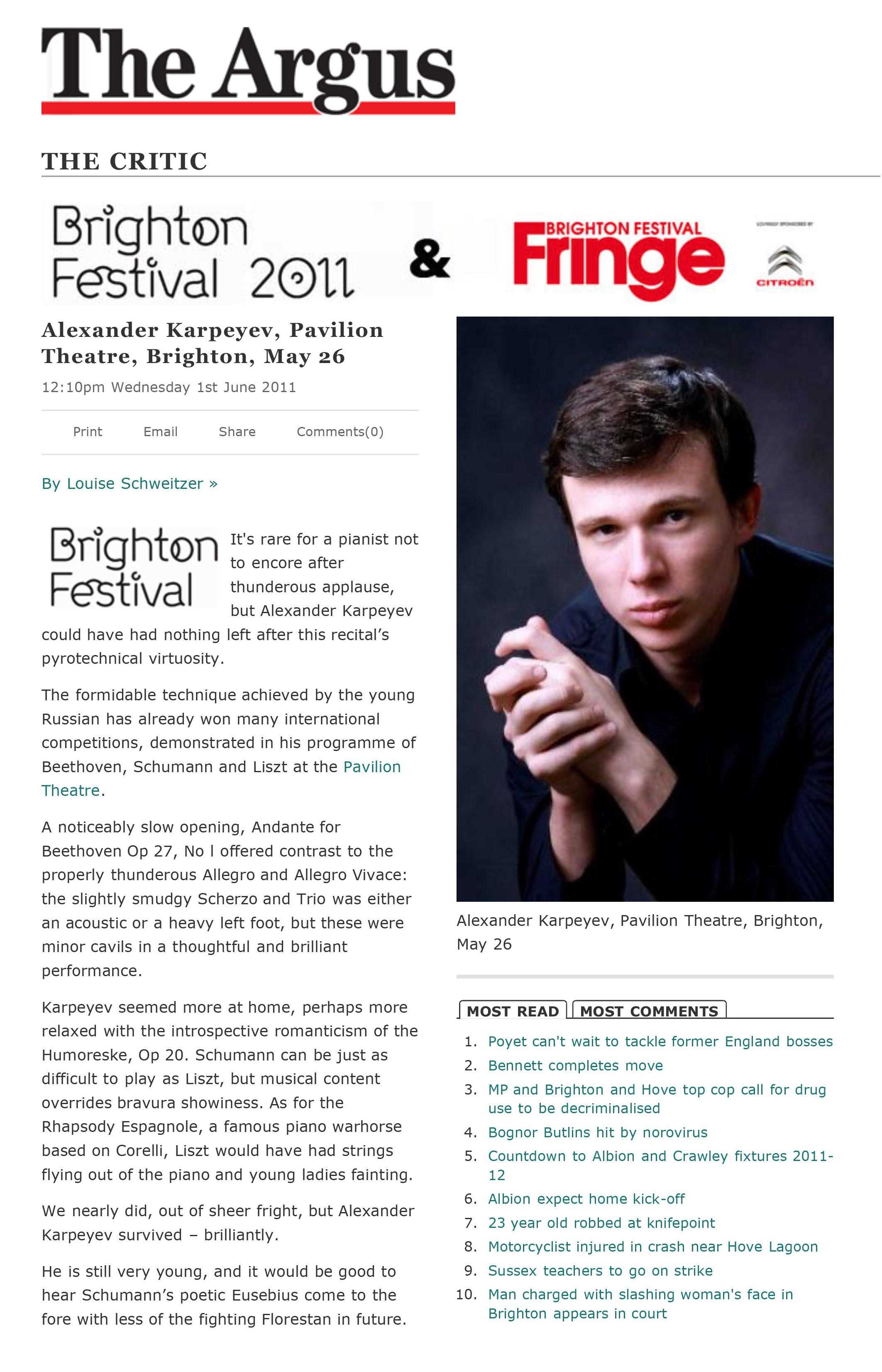 BRIGHTON FESTIVAL (2011)